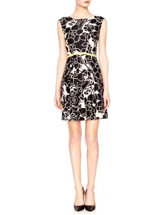 Belted Floral Dress | Women's Dresses | THE LIMITED  #thelimited  #black