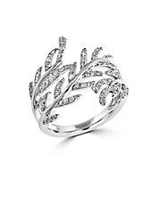 Pave Classica Diamond and 14K White Gold Ring 0.62 TCW