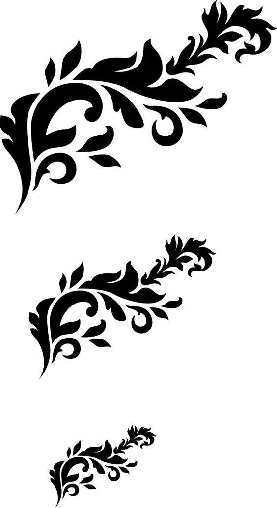 PochoirFrench touch stencil Arabesque par DuMazelfrenchstencil