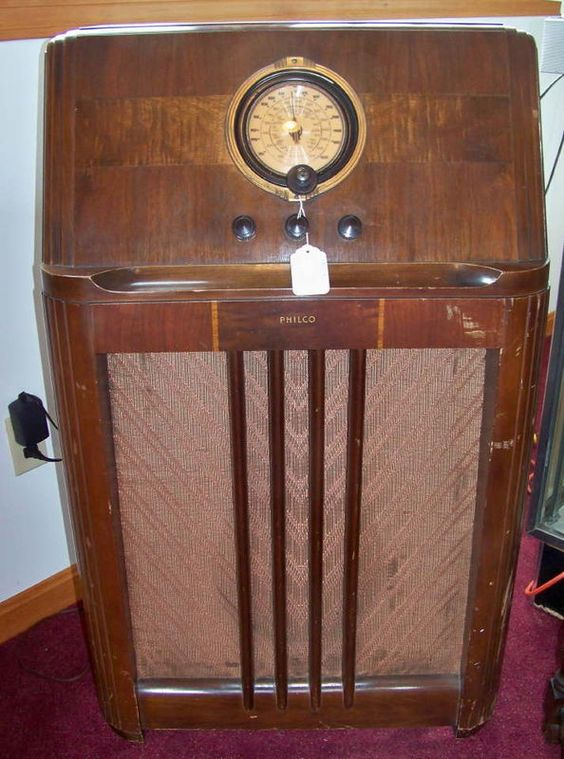 1938 Philco 38 7 Model Console Radio Working Pinterest