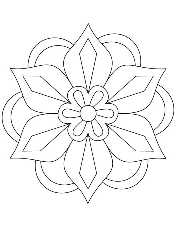 cool flower pattern coloring pages - photo#19