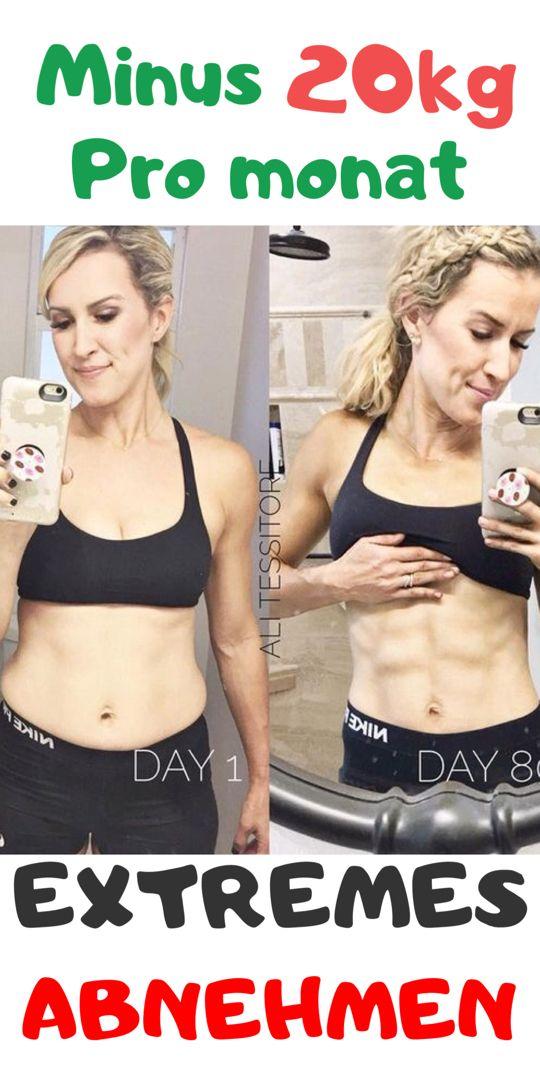 Wie man mit Bewegung und Diät 15 Kilo pro Monat verliert