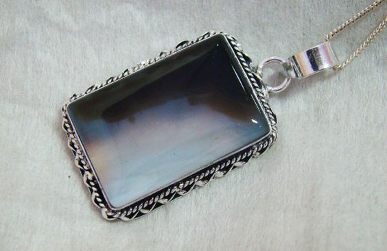 Beautiful handcrafted Pendant with Agate Gemstone by @siyajewelry, $11.00