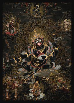 Mahakala Four Armed, protector of wisdom