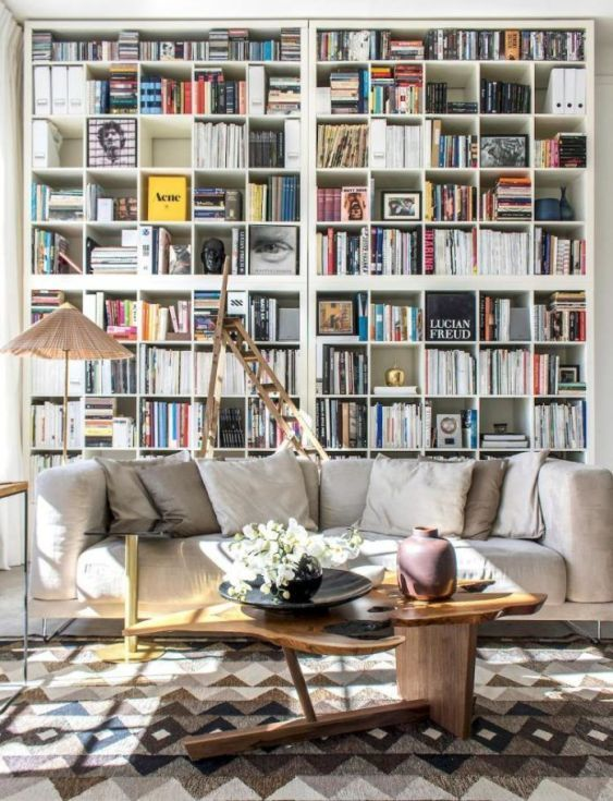 Inspiring Scandinavian Living Room Design 13 Home Library Decor Home Library Design Scandinavian Design Living Room