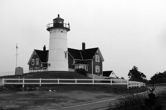 Nobska Lighthouse Black and White by Chris Fuchs on 500px