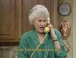 Dorothy upset on phone.