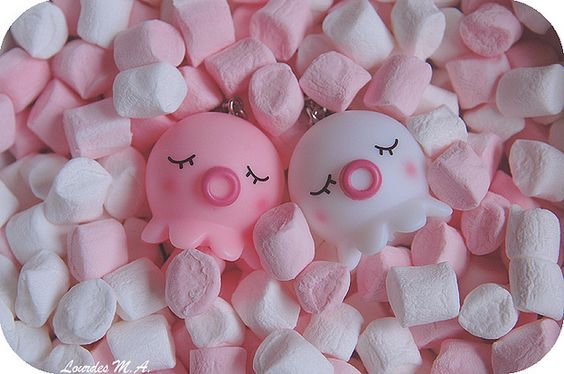 Sweet Dreams by itslour, via Flickr. Pink, marshmallows, takochu