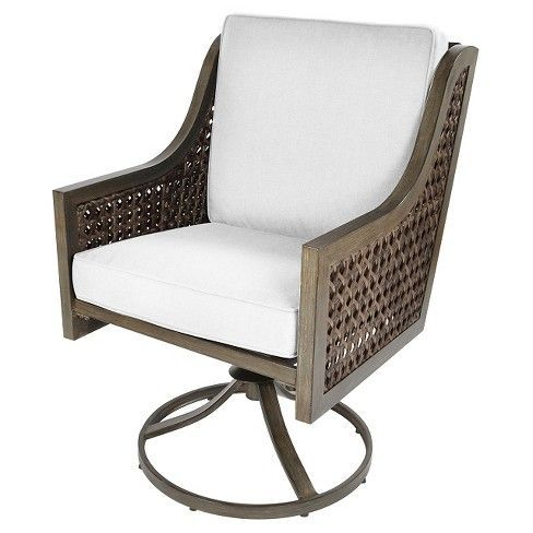 Create A Cozy Nook On Your Patio Or Deck With The Fabron 2 Pack Wicker Swivel Rocker Dining Chair From Th Dining Chairs Patio Dining Chairs Wicker Patio Chairs