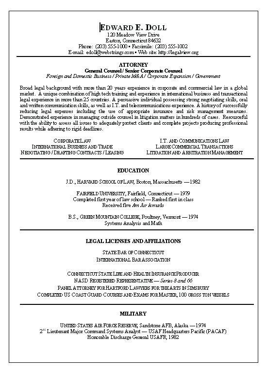 Corporate Resume Examples Corporate Lawyer Resume Sample Corporate