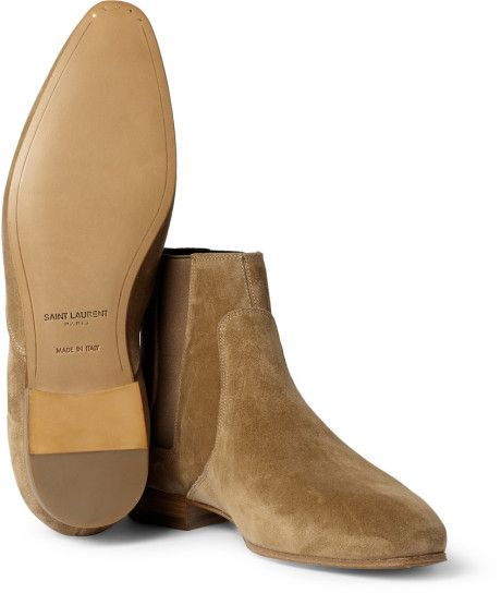 Men's Natural Suede Chelsea Boots | Shoes, Google and Sands