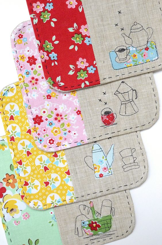 Sew Illustrated Blog Tour - coasters made by Nadra Ridgeway of #ellisadnhiggs using Backyard Roses and Bloom and Bliss by #rileyblakedesigns