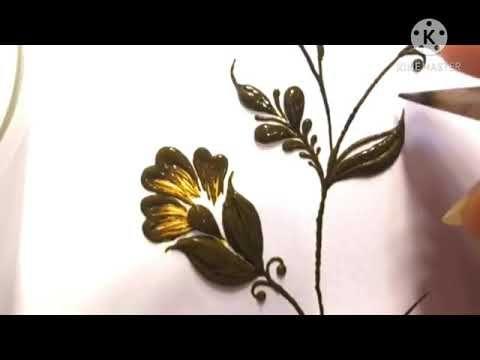 فيديو تعليم رسم نقش حناء سهل على الورق Youtube Henna