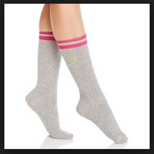 Polar Extreme Women/'s Thermal Insulated Knee High Boot Socks Gray Blue Stripe
