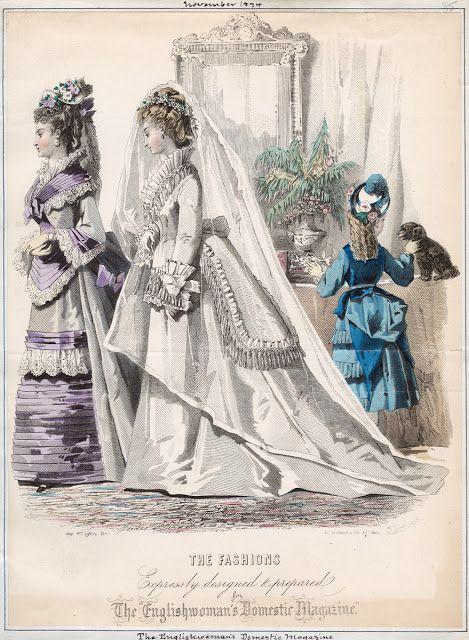 Nov 1874, The Englishwoman's Domestic Magazine ~  vintage susie & wings: Spring & Fabulous French Fashion Plates