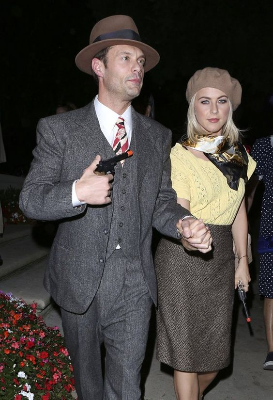 Halloween Costume Idea: Ryan Seacrest, Julianne Hough as Bonnie and Clyde.