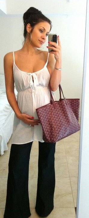 Adorable maternity outfit for summer, or layer it for spring!