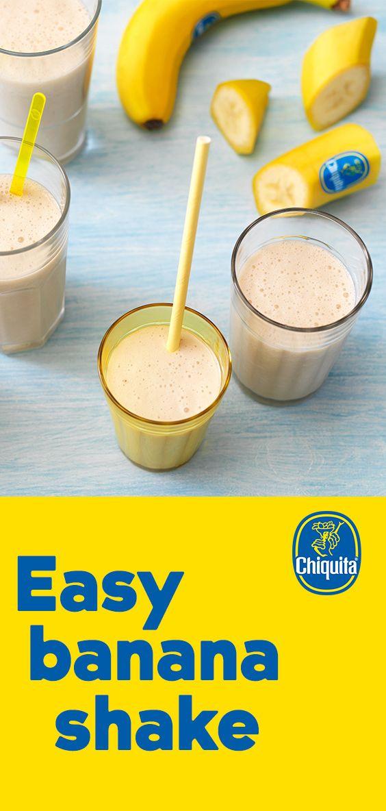 Easy Banana Shake Smoothies And Shakes Chiquita Recipes Recipe Yummy Smoothies Recipes Smoothie Shakes