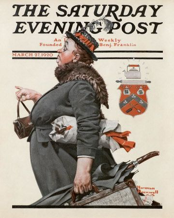 Norman Rockwell's The Departing Maid, March 27, 1920 Issue of The Saturday Evening Post