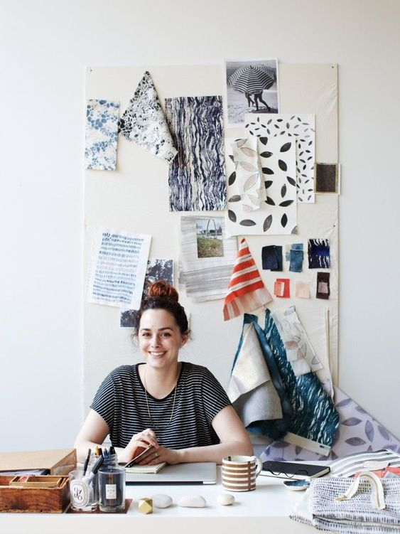 We've been fans of Brooklyn textile designer Rebecca Atwood's hand-painted and shibori-dyed throw pillows for a while now (see Pattern Language: Textiles f