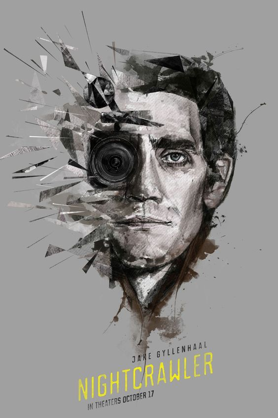 Nightcrawler Jake Gyllenhaal Movie (2014) Alternate Movie Poster, Digital Art