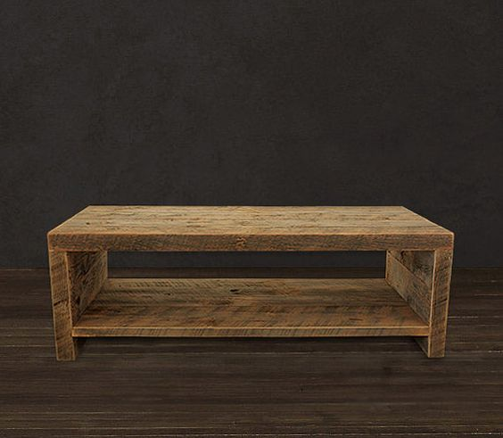 Reclaimed Coffee Table by AtlasWoodCo on Etsy, $465.00