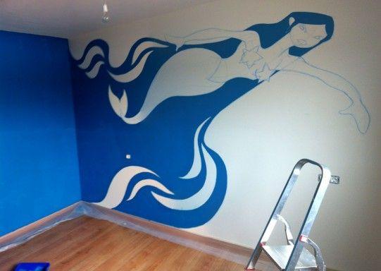 Fondo marino en la pared
