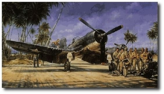 AVIATION ART HANGAR - Black Sheep Squadron by John Shaw