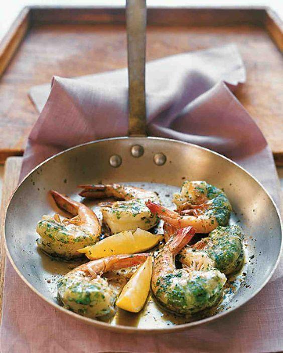 Jumbo Shrimp Stuffed with Cilantro