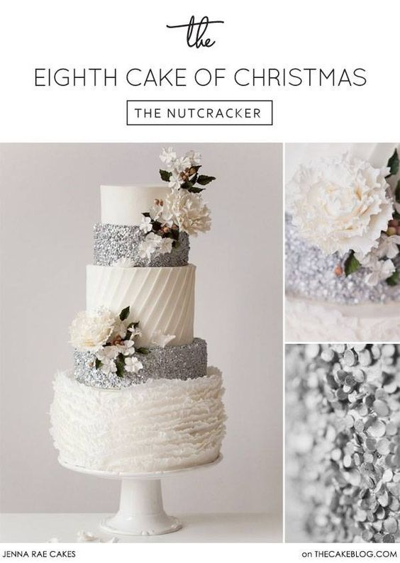 Silver on any cake is gorgeous!