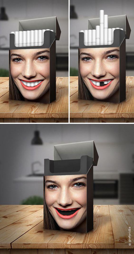 Сегодня мы представляем вам несколько самых инновационных антитабачных реклам.