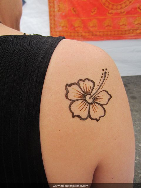 Simple Hibiscus Flower Tattoo: Pinterest • The World's Catalog Of Ideas