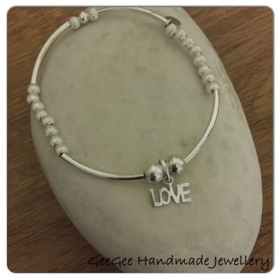 Sterling silver noodle stretch bracelet - £28.00