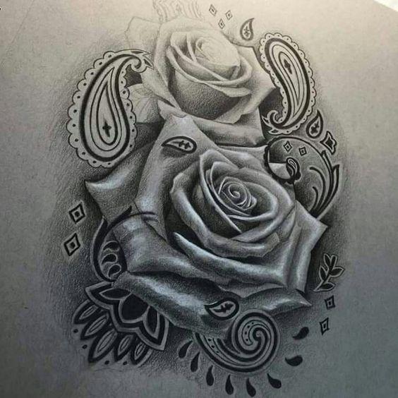 Chikano   Rosen   Schnörkel   Muster   Realistic