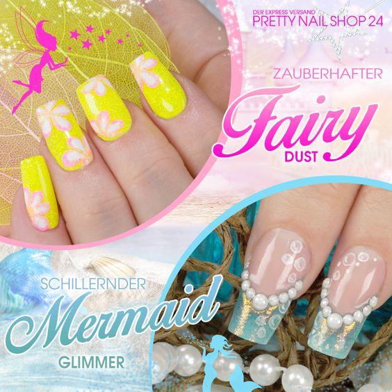 #fairy   #dust   #mermaid   #nails   #nailart   Mit den neuen Fairy Dust Glitterpudern oder dem schillernden Mermaid-Glimmer verwandelst Du Deine Nägel in märchenhafte Hingucker. Beide sind in der praktischen Dosierflasche erhältlich, aber welcher ist Dein Favorit? Deine Martina