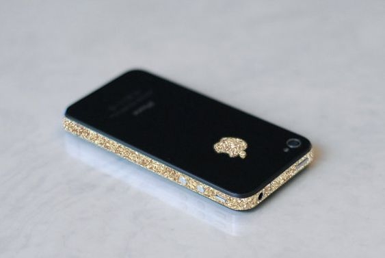 iphone wrap sparkling gold