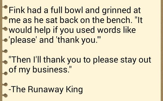 The Runaway King: