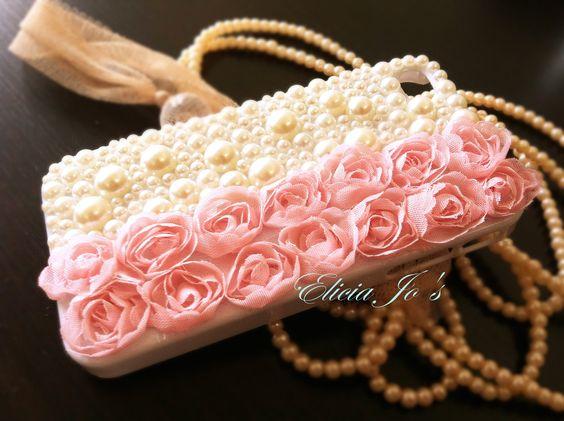 iPhone 4 case, Lace Rose. via Etsy.
