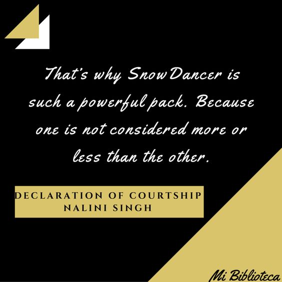 Declaration of Courtship - Nalini Singh Psi/Cambiantes Psy/Changelings: