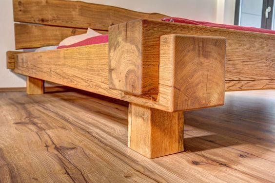 Balkenbett eiche  Balkenbett in Eiche Fuss Detail | Möbel | Pinterest | Bed frames ...