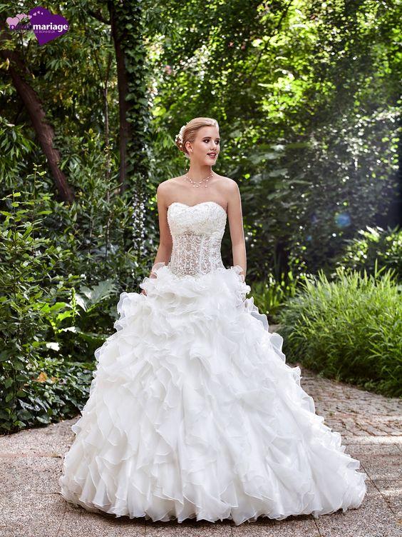 Robe de mariée Brissac, robe de mariée princesse, robe de mariage transparence…