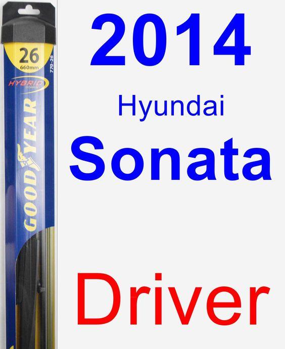 Driver Wiper Blade for 2014 Hyundai Sonata - Hybrid