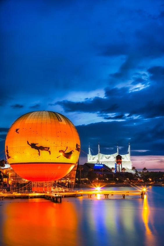 Have YOU been in this balloon at #DowntownDisney?