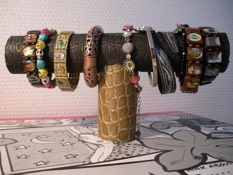 Bracelet holders, Diy bracelet and Toilet paper rolls