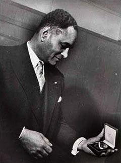 On September 22, 1950, Ralph Bunche received the Nobel Prize—the first African-American and the first person of color in the world to be so honored. He was awarded the Nobel Prize for Peace for his successful mediation of a series of armistice agreements between the new nation of Israel and  its Arab neighbors Egypt, Jordan, Lebanon, and Syria. It remains the only time that all the parties to the Middle East conflict signed armistice agreements with Israel. #TodayInBlackHistory