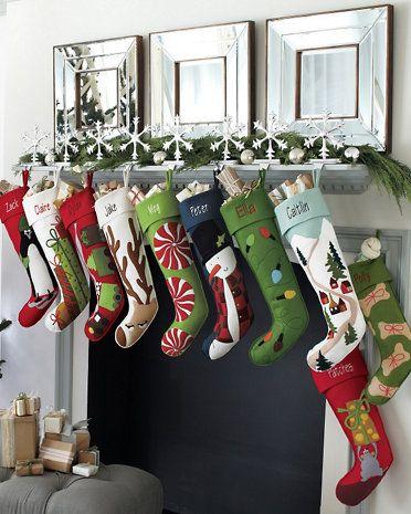 Garnet hill felt christmas stockings