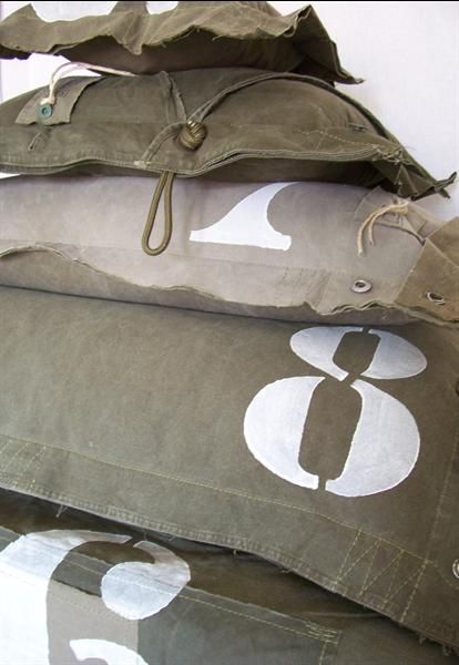 Cool army pillows by Stapelgoed