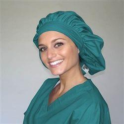 Green Scrubs - Tie Bonnet Hat - Teal