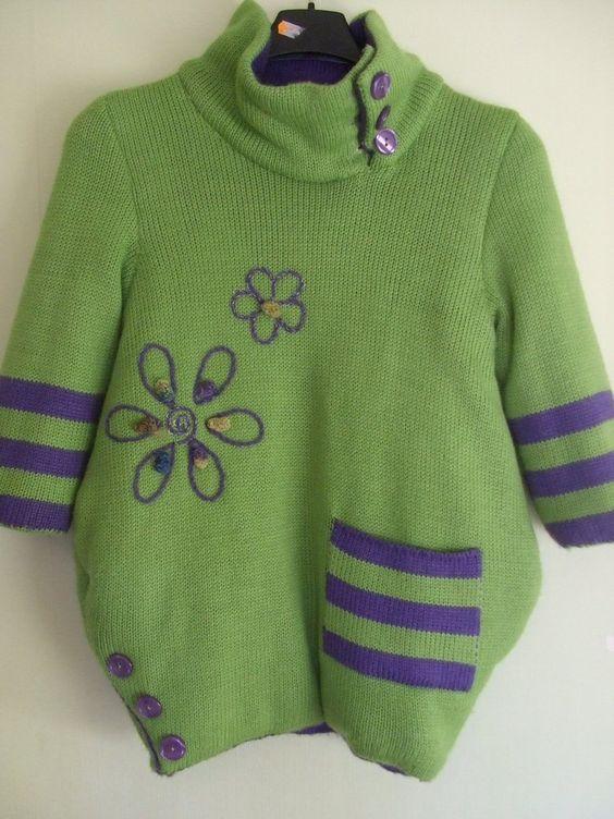 maglione cappotto lana maglia bimba, by maglieria magica, 85,90 € su misshobby.com