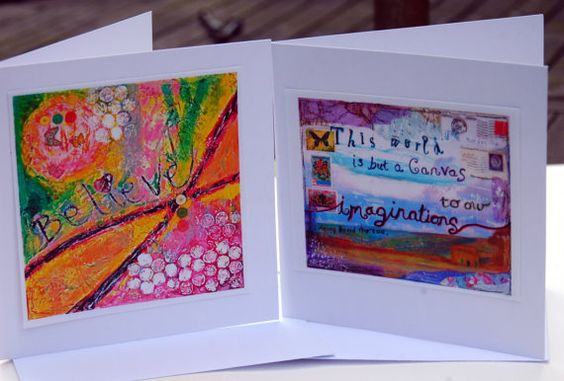 Blank greeting cards/notecards.  Cute in a mini frame too!
